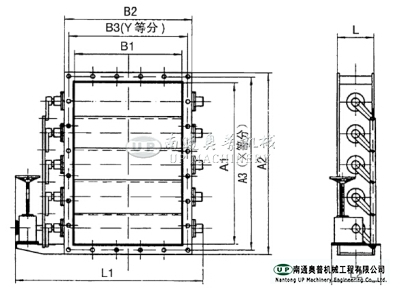 TEDB-0.5(square) jalousie electric air flow regulation valve
